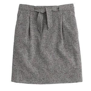 J.Crew tweed mini skirt tie waist wool size 4